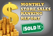 iSold It Monthly Store Sales Ranking Report